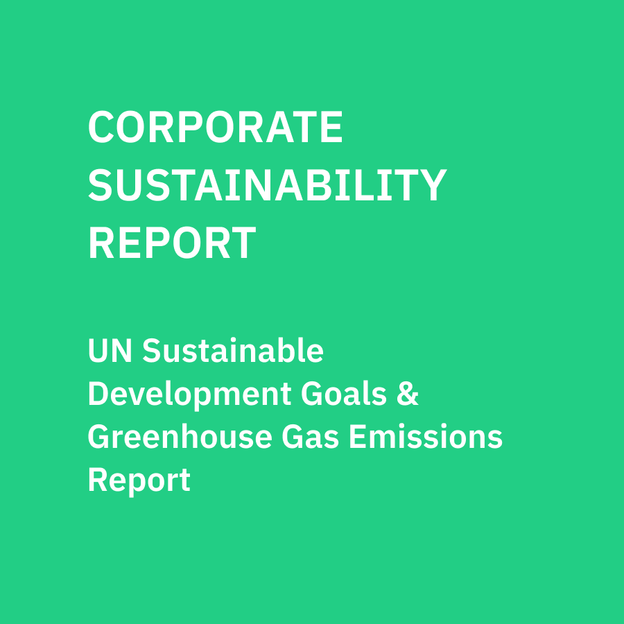 Corporate Sustainability Report: 2020